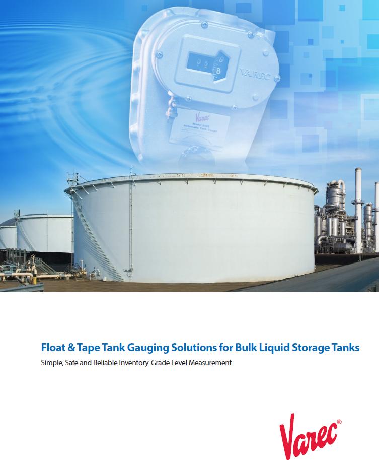 Float And Tape Tank Gauging Solutions For Bulk Liquid