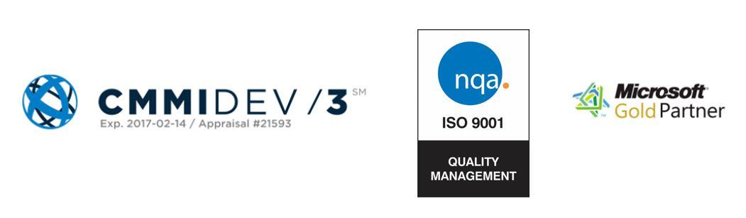 CMMIDev3 ISO 9001 Microsoft Partner