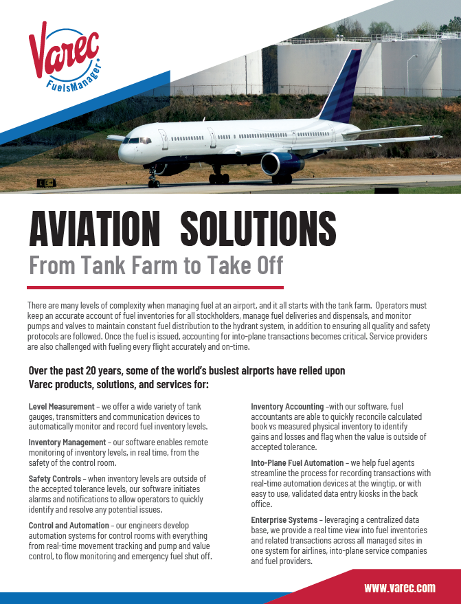 Aviation Solution Brochure Cover